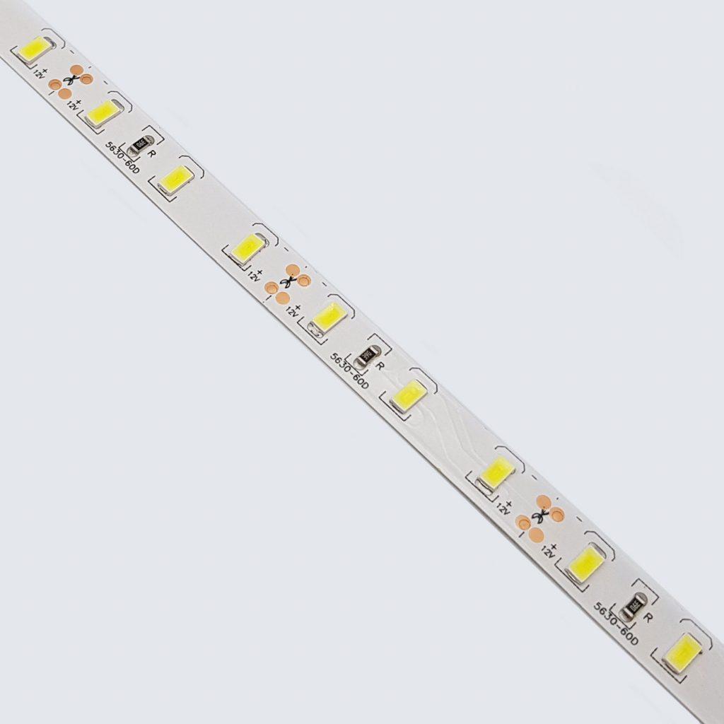 Led dây 5630 12V ánh sáng trắng 6000K 1 mét 60 bóng không phủ epoxy