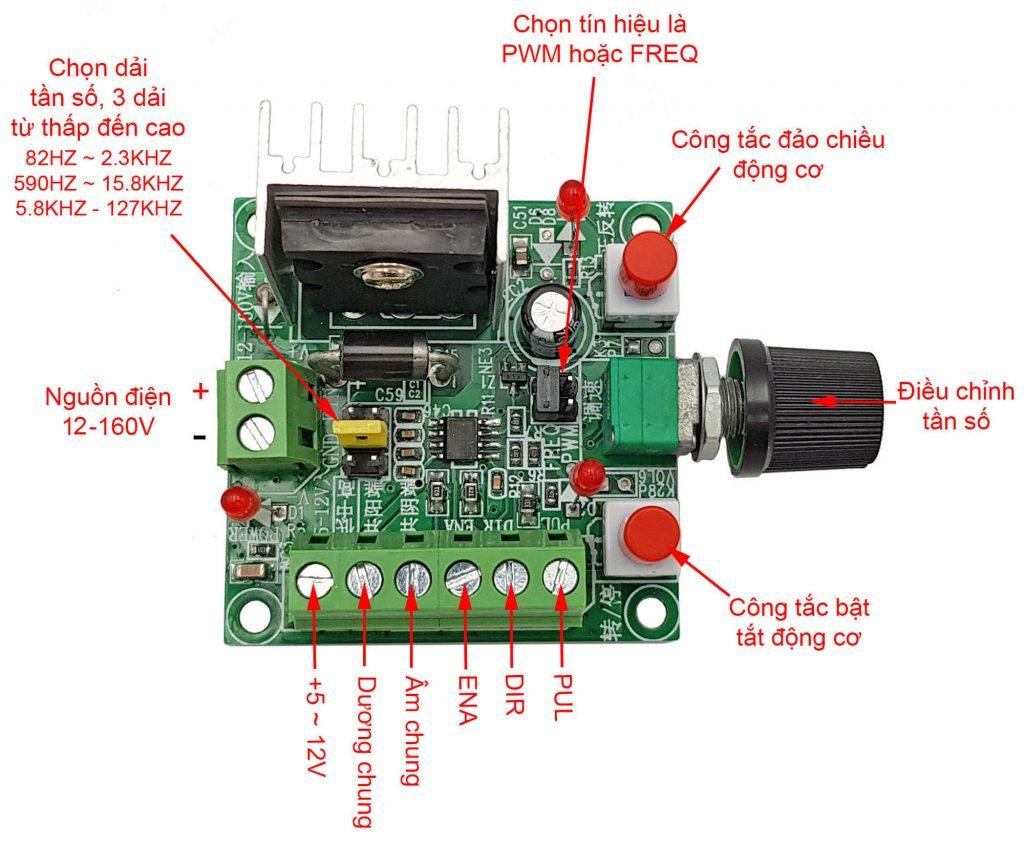 Mô tả chức năng của Mạch tạo xung điều khiển driver động cơ bước 2SC5200