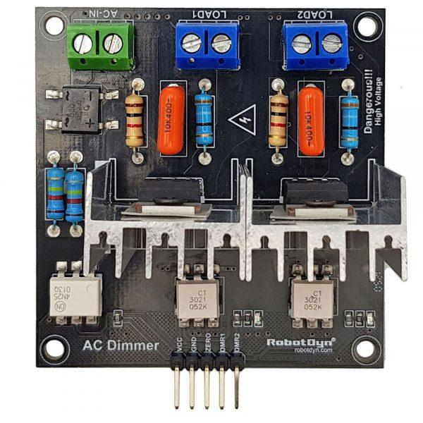 Module dimmer AC 8A 2 kênh