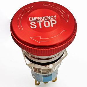 Nút dừng khẩn cấp kim loại 19mm