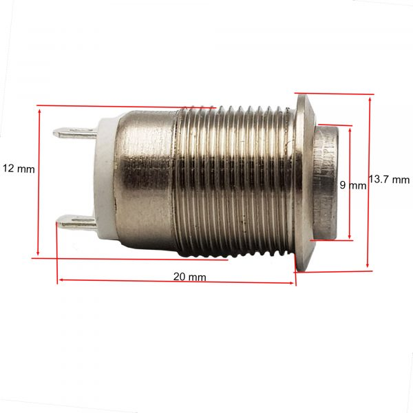 Nút nhấn nhả kim loại 12mm