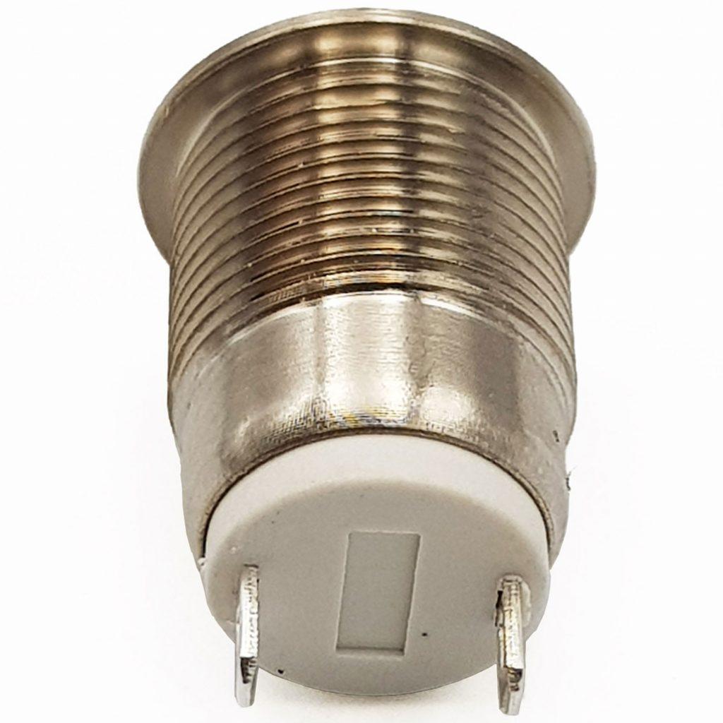 Nút nhấn nhả kim loại 12mm mặt phẳng