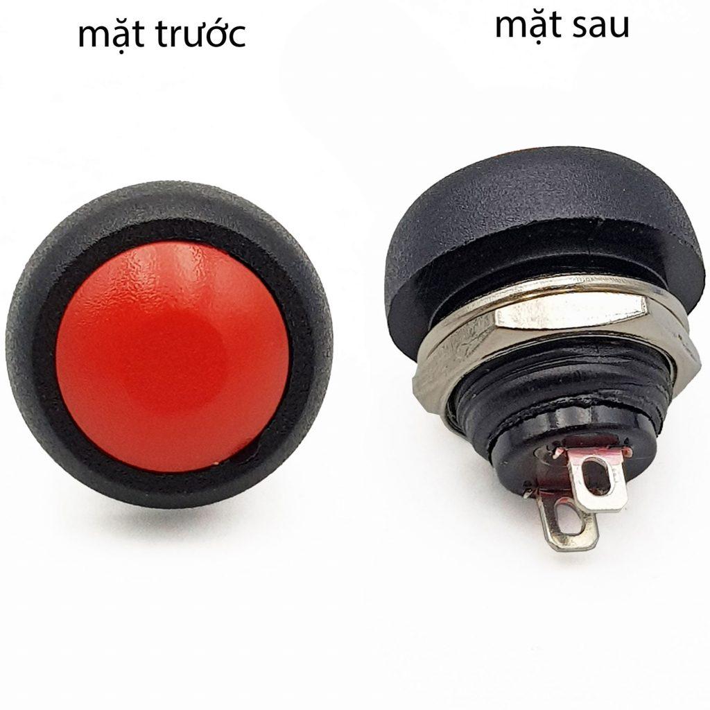 Nút nhấn nhả PBS-33B 12mm màu đỏ