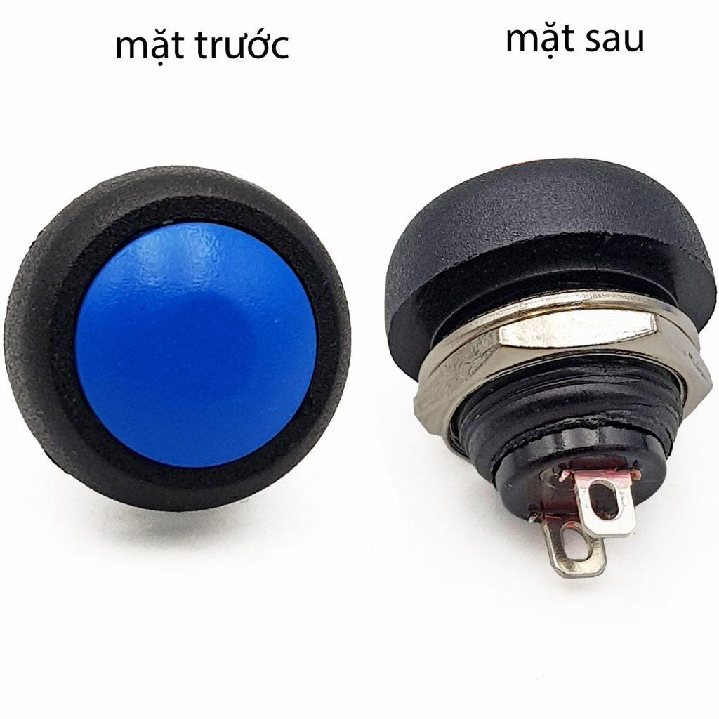 Nút nhấn nhả PBS-33B 12mm xanh dương