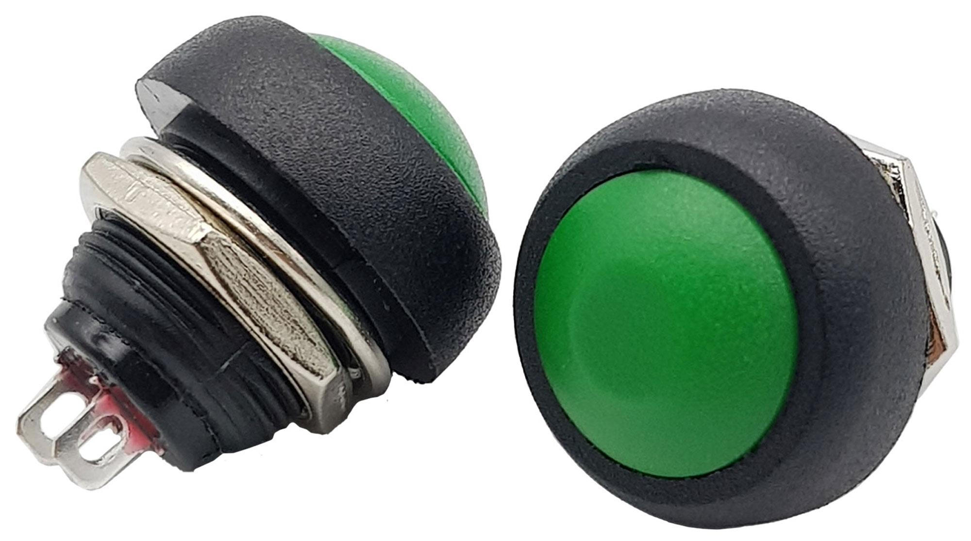 Nút nhấn nhả PBS-33B 12mm xanh lá