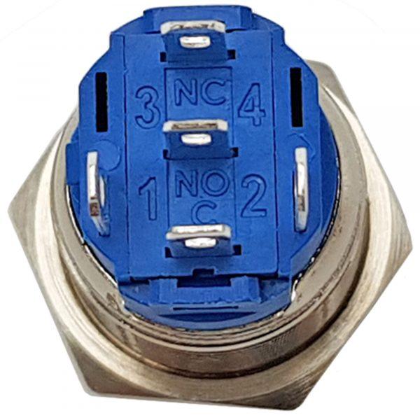 Nút nhấn tự giữ kim loại 19mm xanh lá