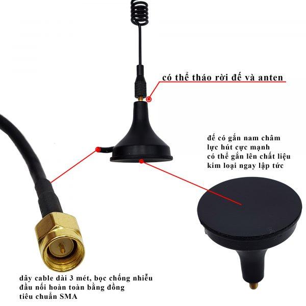 Anten Wifi Bluetooth ZigBee 2.4Ghz SMA 8dBi 23cm