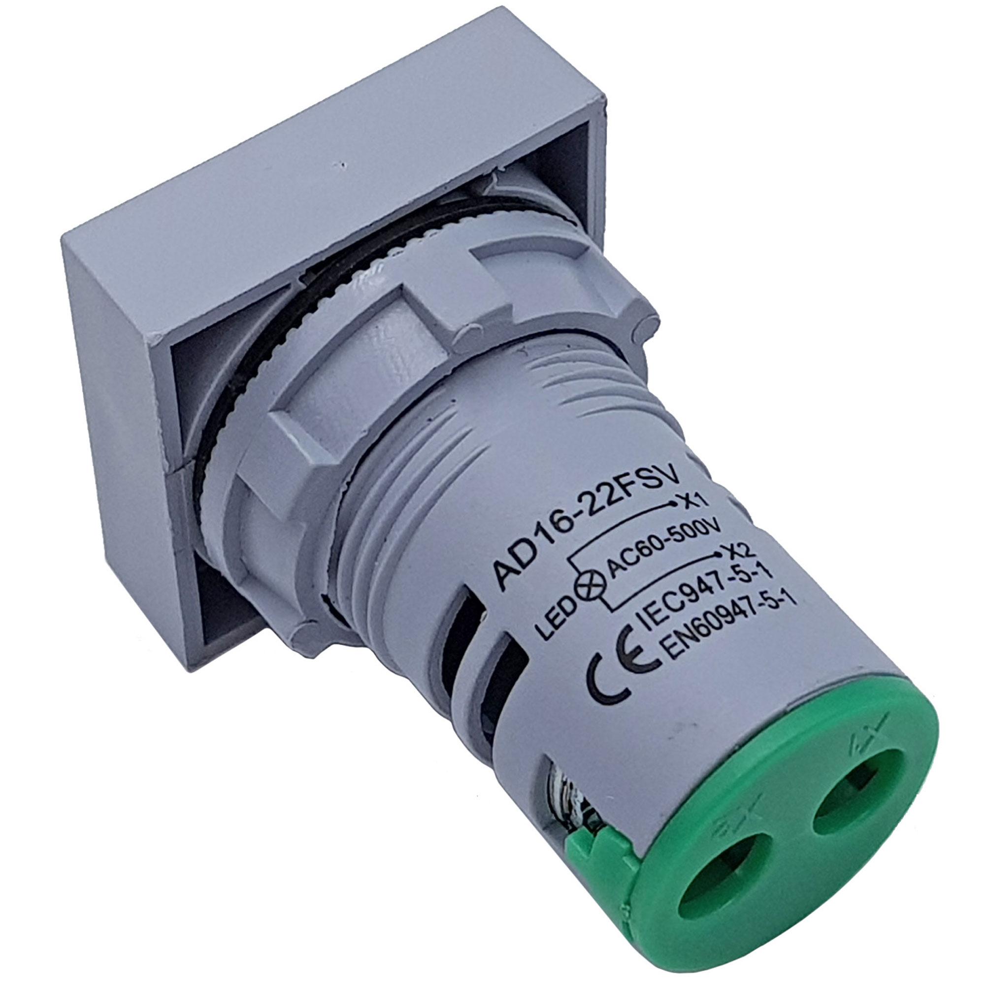 Đồng hồ đo điện áp AC 20-500V màu xanh lá