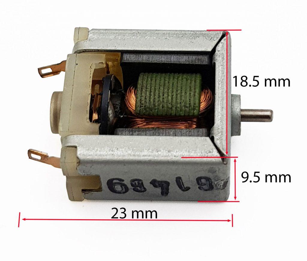 Kích thước Bộ mô hình động cơ 020 3VDC