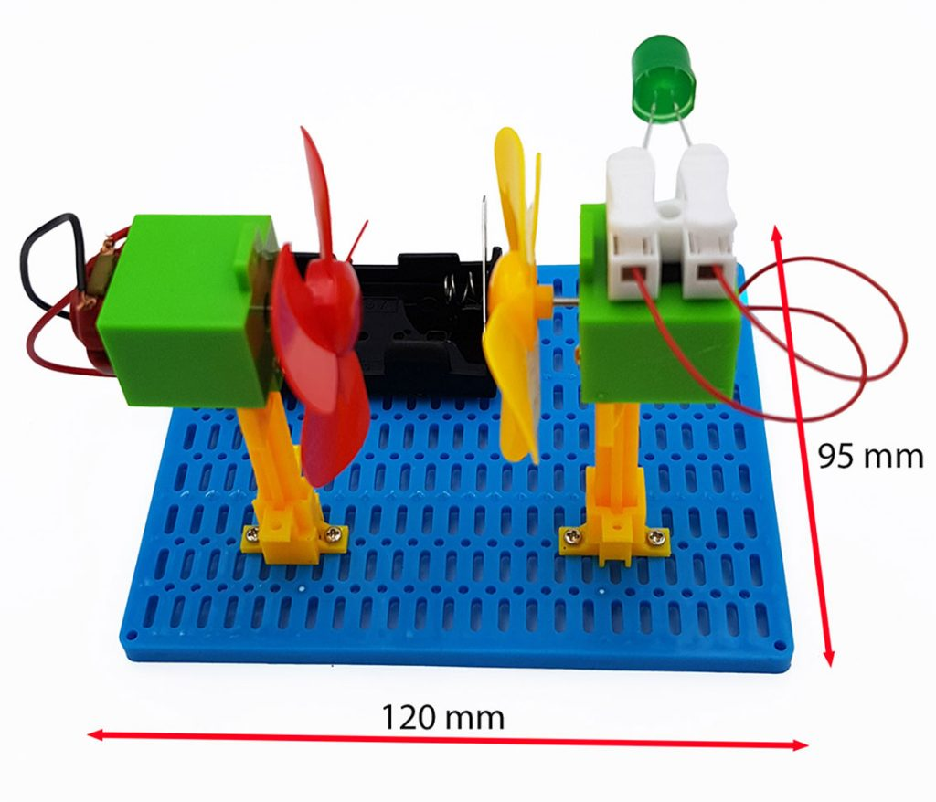 Kích thước Bộ thí nghiệm máy phát điện dùng năng lượng gió