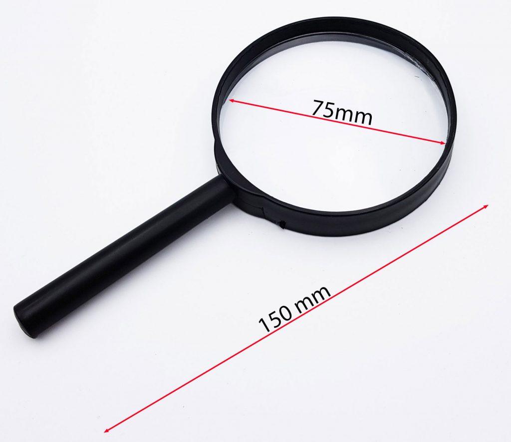 Kích thước Kính lúp 75 mm