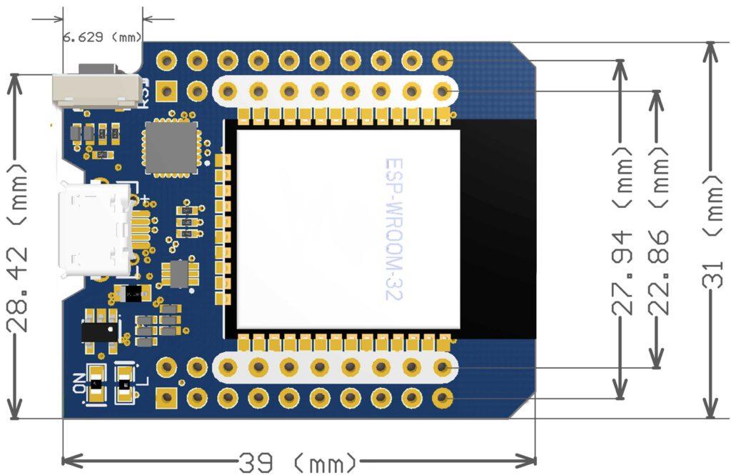 Module Wifi Bluetooth Mini D1 ESP32-Wroom-32