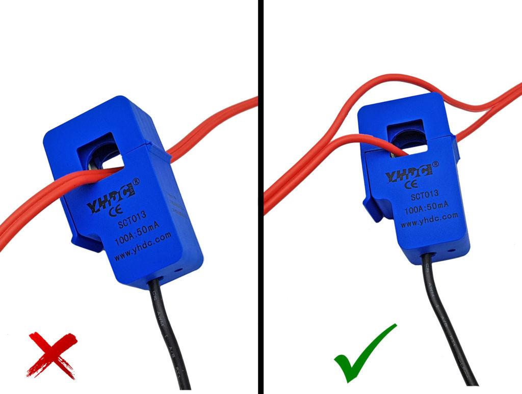 Cách kết nối cảm biến dòng điện với thiết bị cần đo
