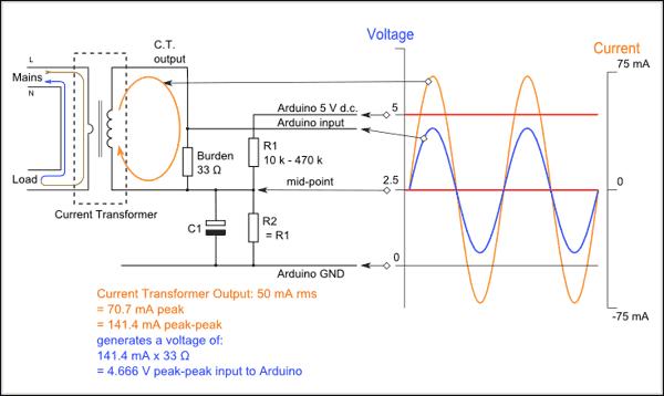 sơ đồ cảm biến dòng điện